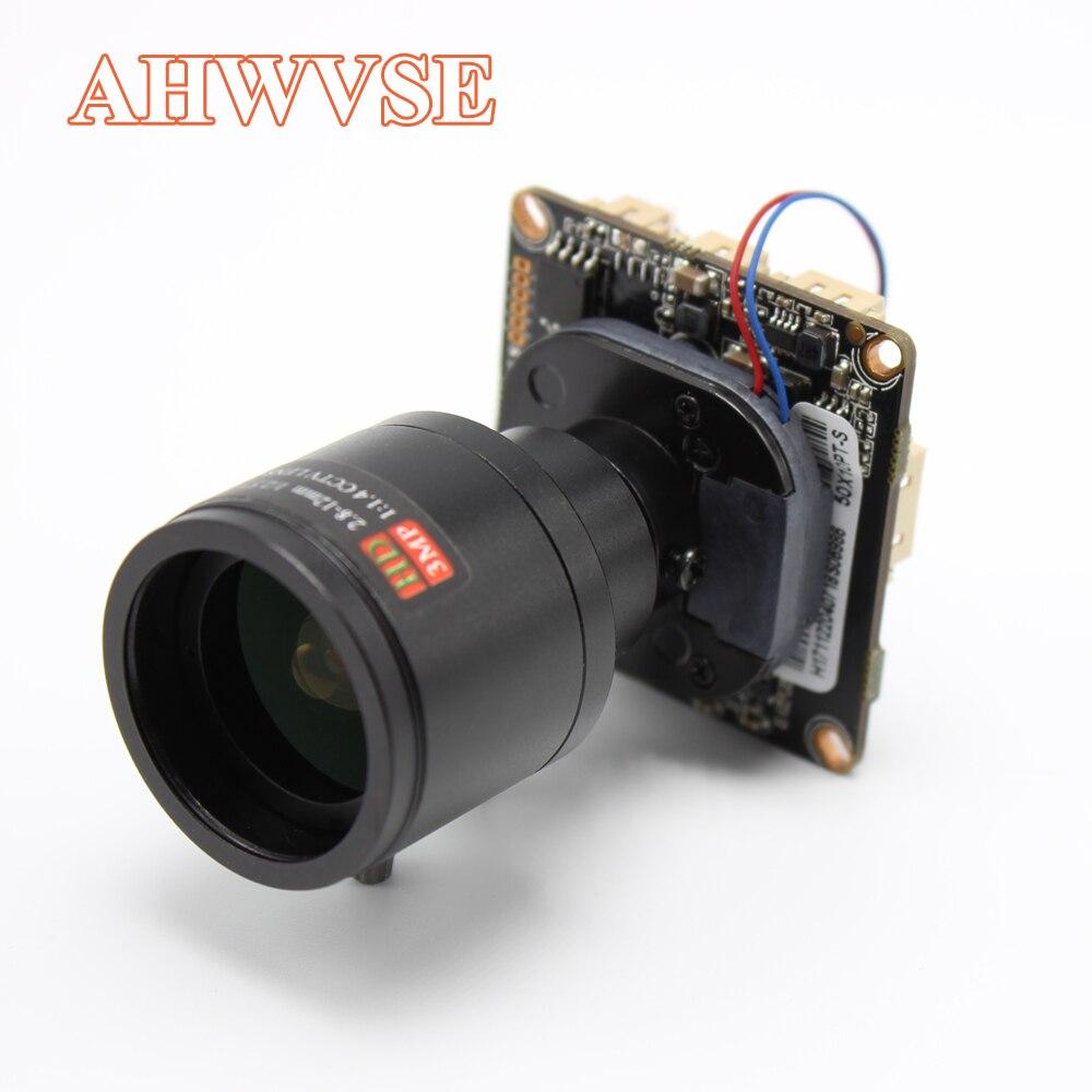AHWVE BRICOLAGE Vue Large 2.8-12mm Lentille 1080 p 2MP module de Caméra IP avec IRCUT RJ45 Câble ONVIF H264 Mobile L'APPLICATION XMEYE