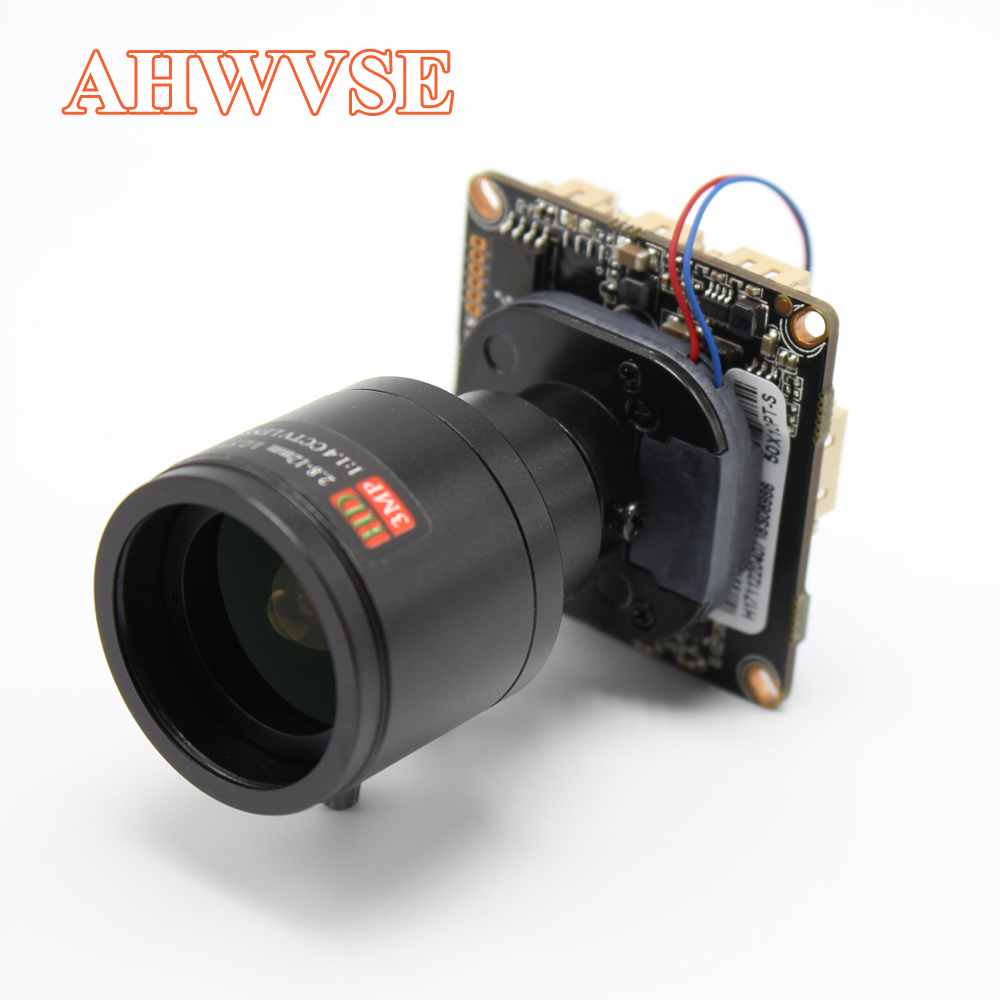AHWVE DIY Wide View 2.8-12mm Lens 1080P 2MP IP Camera module Board with IRCUT RJ45 Cable ONVIF H264 Mobile APP XMEYE