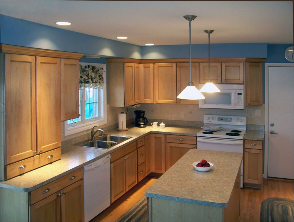 2017 plywood carcase solid wood modular kitchen cabinets furniture suppliers China hot sales