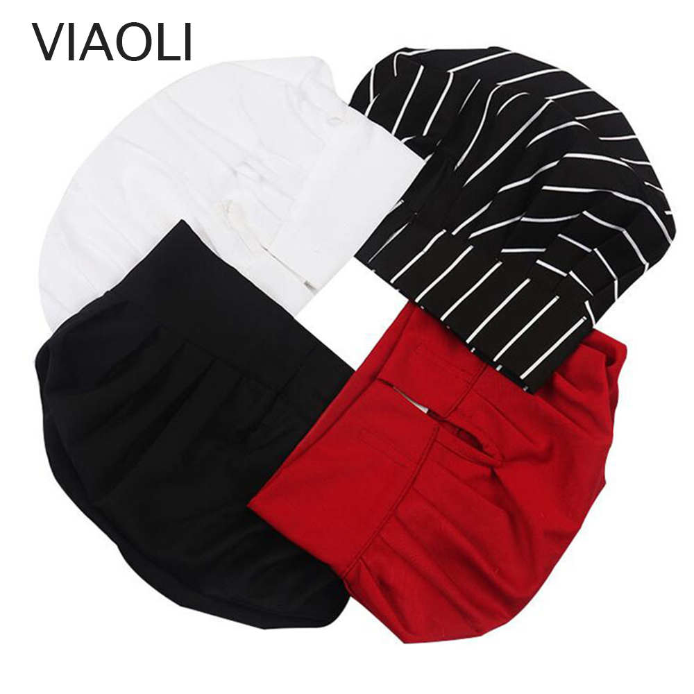 High Quality Wholesale Solid Sushi Chef Waiter Hats Adult Restaurant Hotel Bakery Canteen Chef Cooker Workwear Cap Chefs Hat