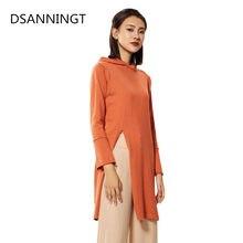 506b722d1 Con capucha Vestido Mujer de mezcla de Color sólido Casual suéter largo  cómoda chaqueta otoño invierno de la Mujer Vestidos