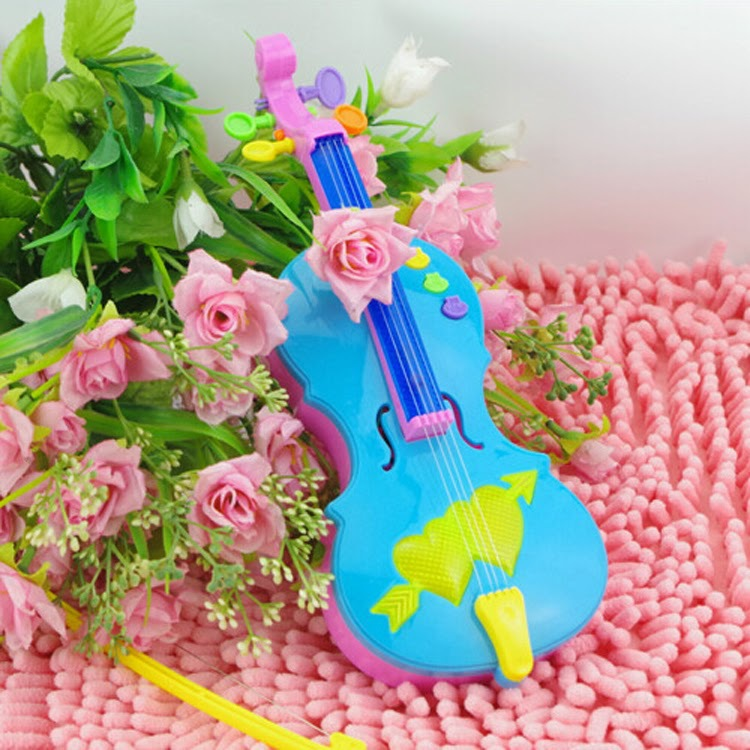 Magic Electric guitar Violin Music Strum Stage Intelligence Toys Flash Plastic Material
