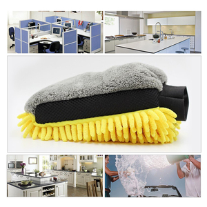 Image 5 - 1PC Car Care Cleaning Wash Waterproof Glove Car styling Microfiber Chenille Mitt Auto Wax Paint Detailing Wash Brush Accessories