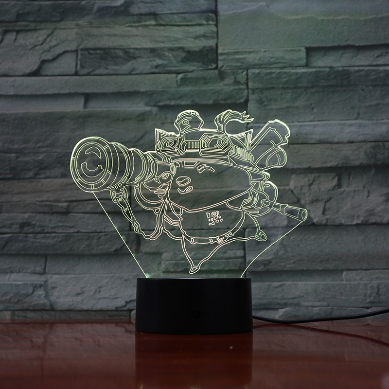 League of Legends LoL Heros LED Night Light Touch Sensor 7 Colors Changing Child Kid Baby Kit Nightlight Bedroom Table Lamp