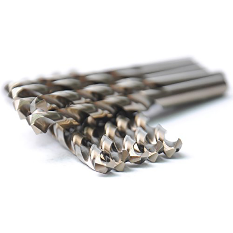 DRILLFORCE HSS General Purpose Heavy Duty Jobber Cobalt Twist Drill Bits High Speed Steel Drilling Tools For Metal 10PCS 1/8 new 10pcs jobbers mini micro hss twist drill bits 0 5 3mm for wood pcb presses drilling dremel rotary tools