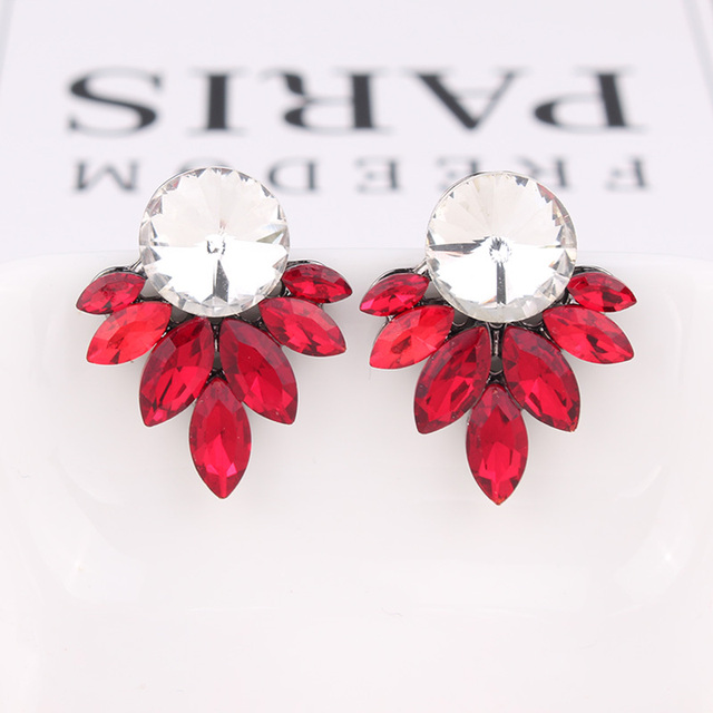 LUBOV 2019 Crystal Flower Drop Earrings for Girls Bohemian Party Cute Gift Dangle Earrings Women Wedding.jpg 640x640 - LUBOV 2019 Crystal Flower Drop Earrings for Girls Bohemian Party Cute Gift Dangle Earrings Women Wedding Trendy Jewelry