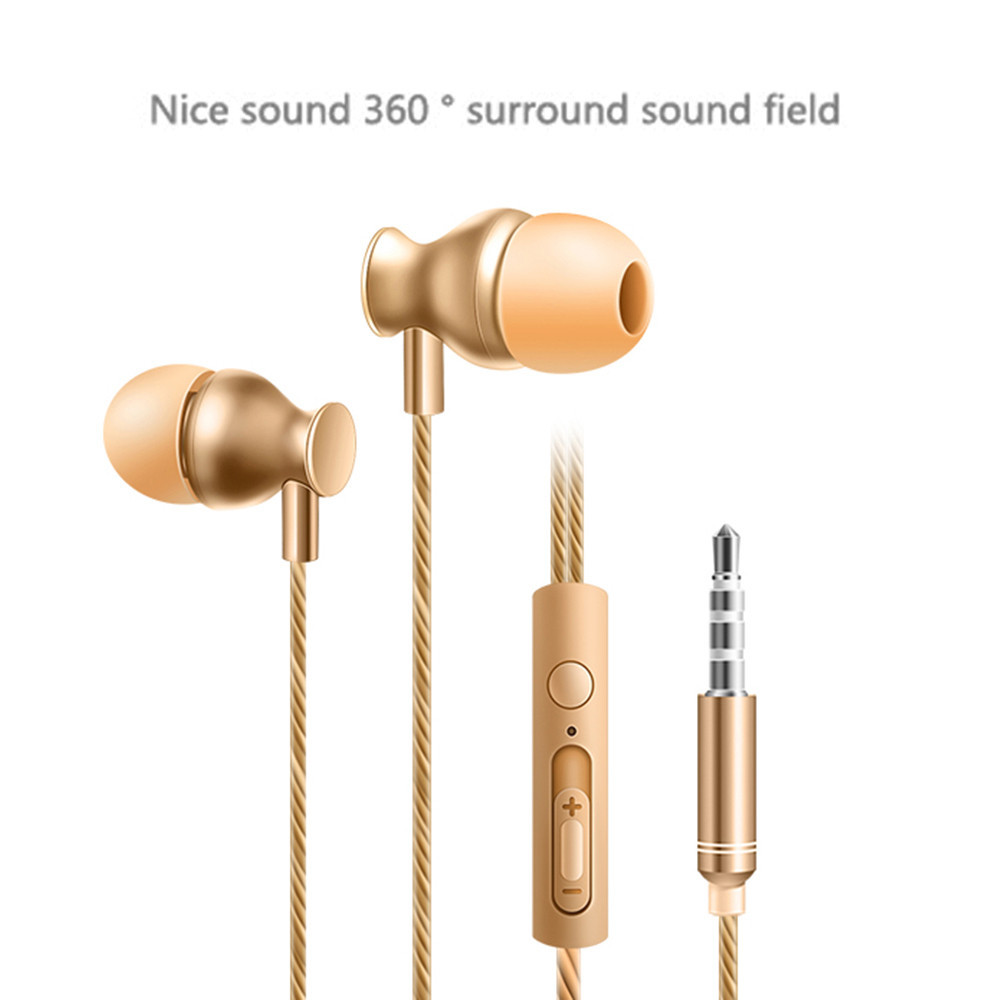 3.5mm In Ear Stereo  Headset Super Bass Music Metal Earphone Earbuds fone de ouvido auriculares oordopjes