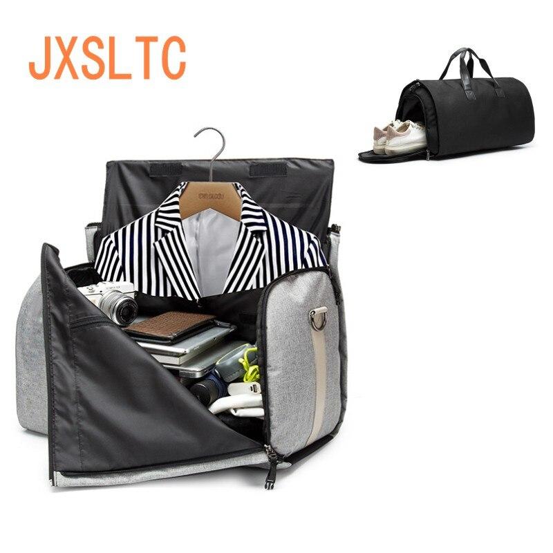 Hommes sac de voyage pique-nique en vêtements grande capacité multi-fonction sac pliable Oxford tissu Duffle Business costume sac sac à bandoulière