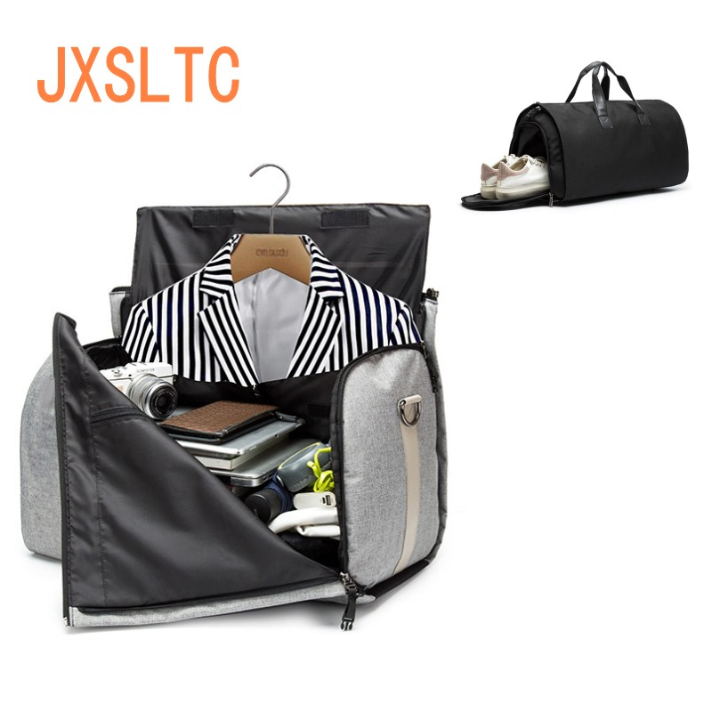 Detail Feedback Questions about Men Travel Bag Picano In Clothing Large  Capacity Multi function Bag Foldable Oxford Cloth Duffle Business Suit Bag  Shoulder ... 824d979b68788