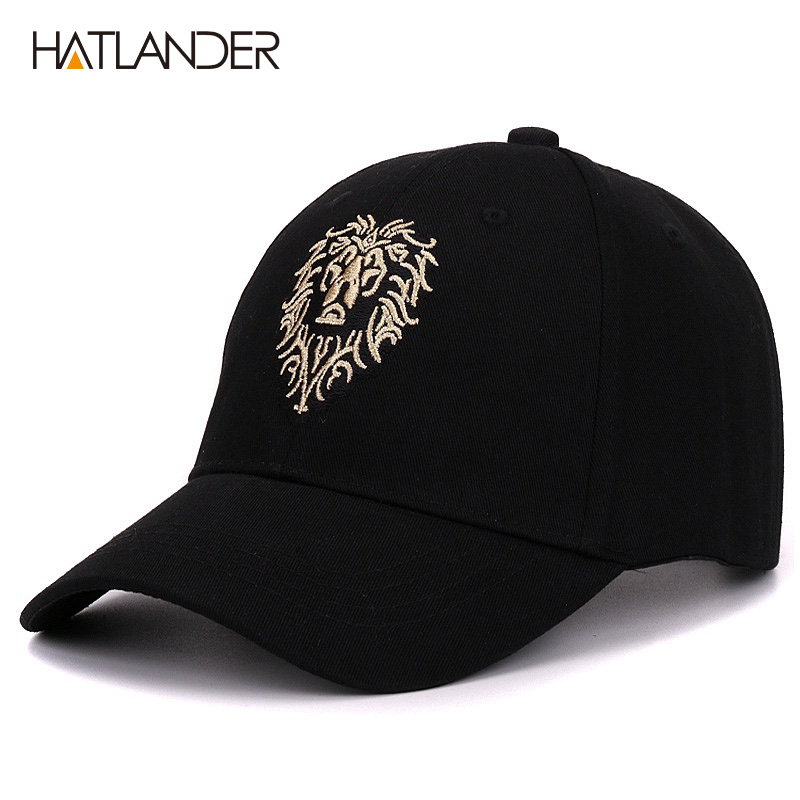 Hatlander brand baseball cap bone fitted hat casual caps gorras hip hop snapback hats embroidery lion sports cap for men women mb barbell atlet 32 5кг