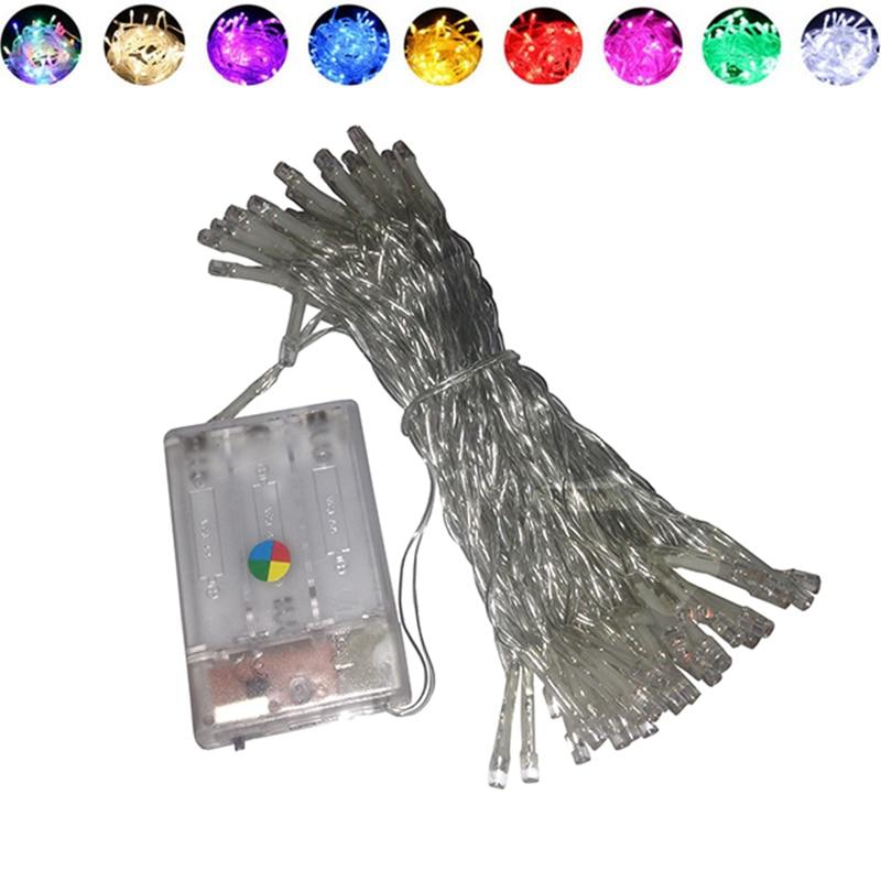 3 * Aa Batterie String Licht 2 M 3 M 4 M 5 M 10 M Festliche Lichter/hochzeit Lichter/dekorative Led Batterie Weihnachten Lichter ZuverläSsige Leistung