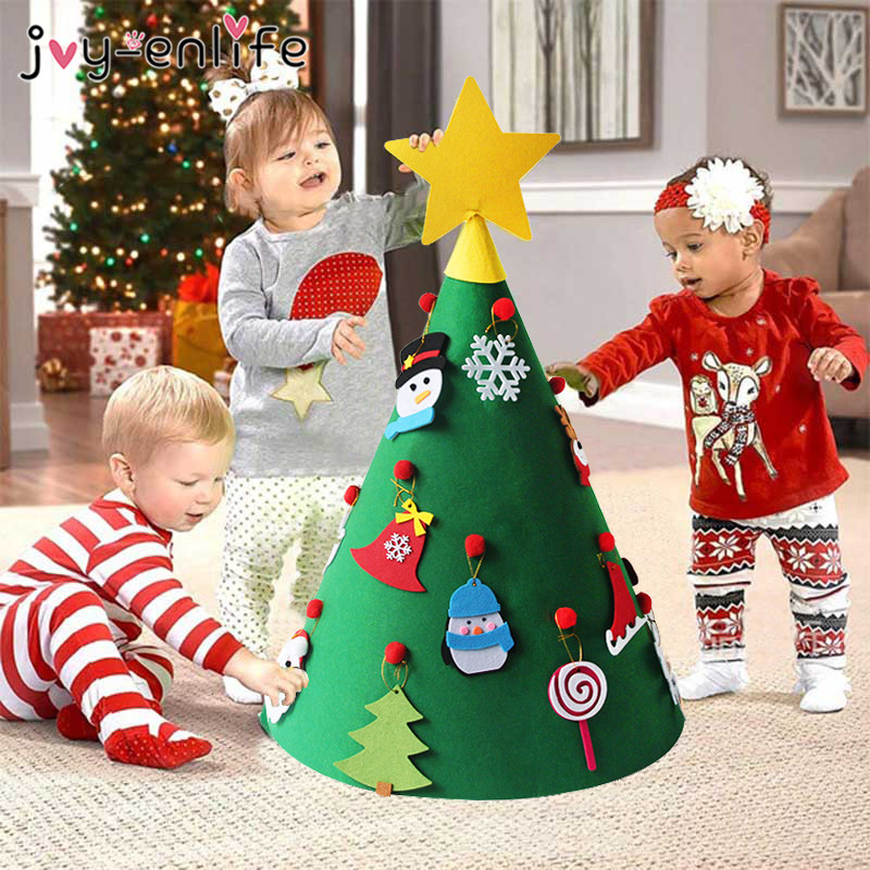 Joy Enlife 3d Diy Felt Toddler Christmas Tree New Year
