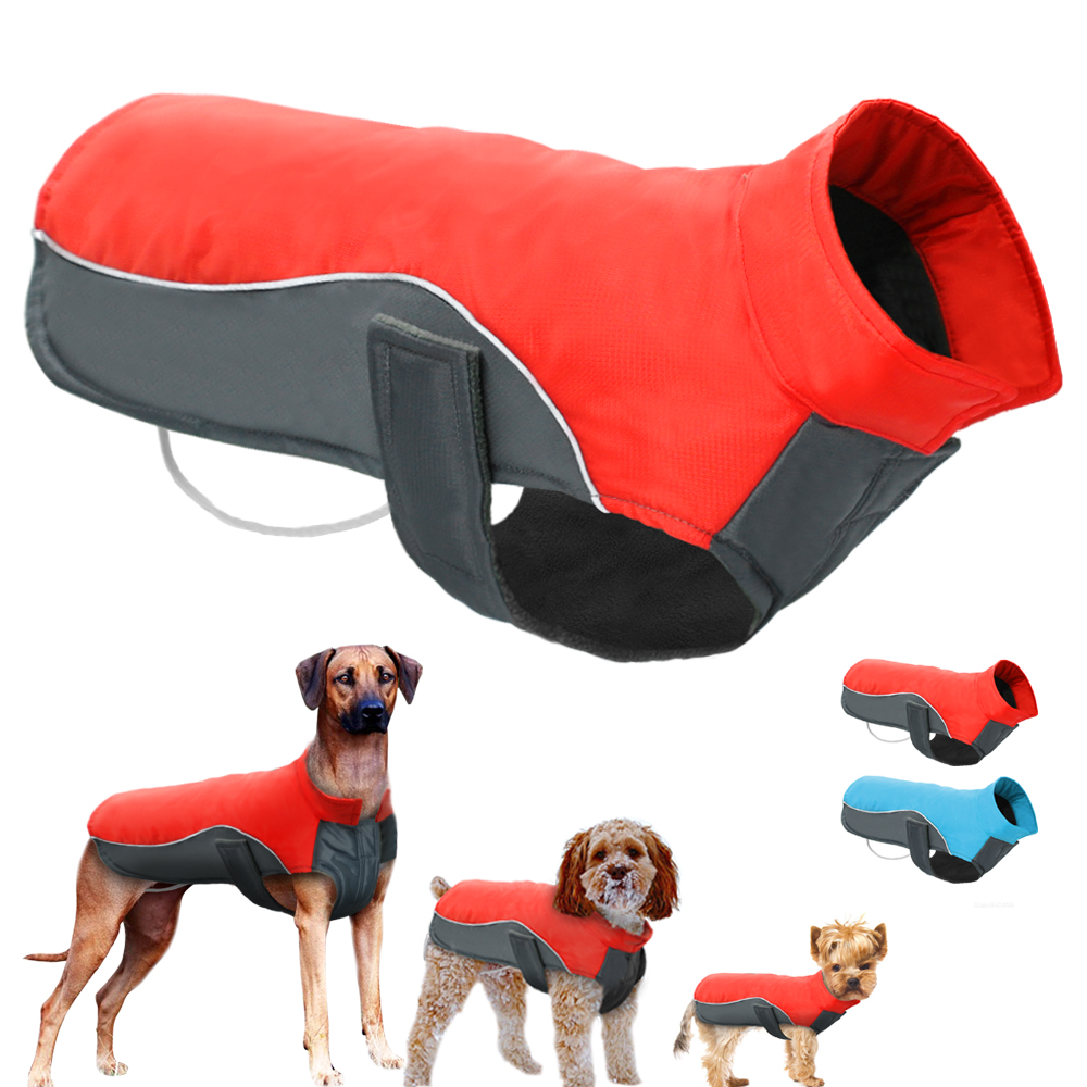 Wholesale Waterproof Dog Clothes Vest Jacket Warm Reflective Pet Clothes Winter Puppy Coat For Small Medium Large Dogs Pitbull