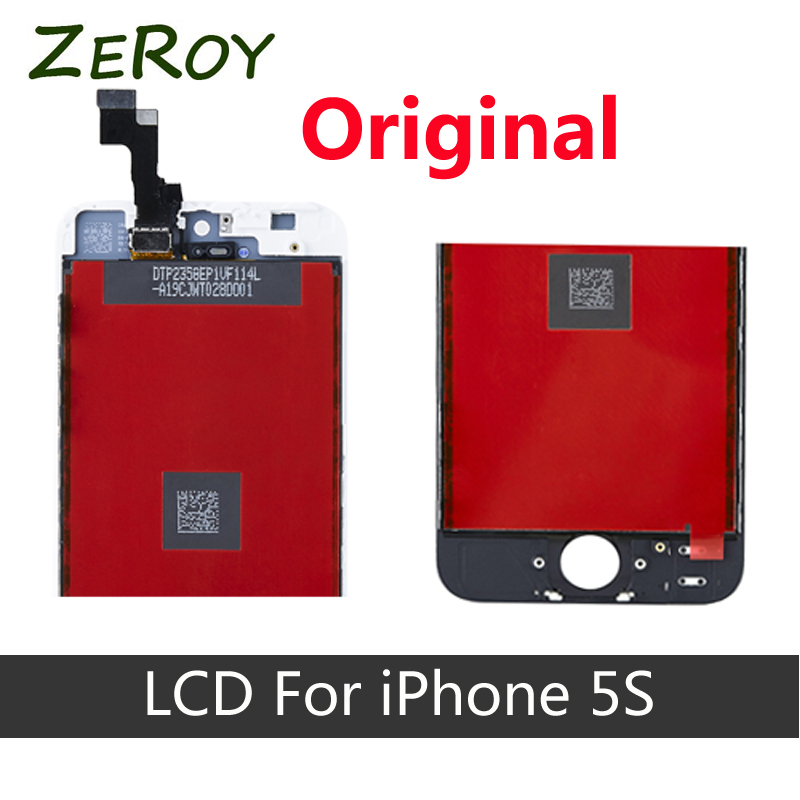 ФОТО 100% Original AAA LCD Screen For iPhone5S Display Replacement Touch Screen Digitizer Assembly, 4 inches Screen