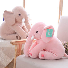 Soft Elephant Cushion Sofa Throw Pillow Lumbar Car Chair Back Cushions Kids Room Decoration Plush Pacify Toy(China)