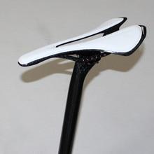 Full carbon fiber camino de la bici de montaña asiento de silla colchón ultraligero fibra del carbón del manillar de diámetro