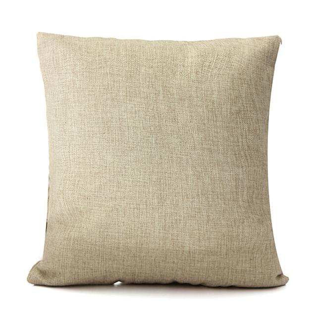 New Home Decorative Throw Pillow Case Vintage Pillowcase Cotton Linen Square Cute Cartoon Owl