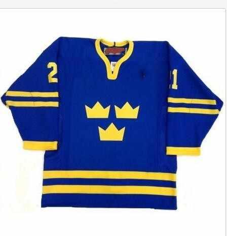 Vintage 2006 TEAM SWEDEN PETER FORSBERG GABRIEL LANDESKOG LIDSTROM Hockey  Jersey Customize any number and name 20fa505aa