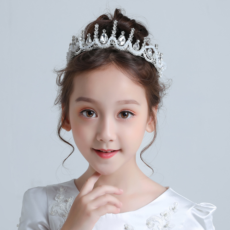 Children Crown Headdress Princess Headband Super Fairy Child Hair Clip Korean Female Baby Birthday Hair Accessories Girl Crown(China)
