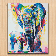 diy paints by numbers Watercolor animals colorful pictures colorings paintings drawings  with kits on canvas framed