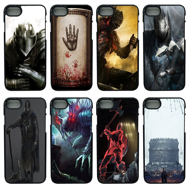 Fashion Dark Souls Moblie Phone Case Hard Plastic Anti-knock Cover for iphone 8 7 6 6S PLUS X 5S 5C 5 SE iPod Touch 4 5 6 Shell