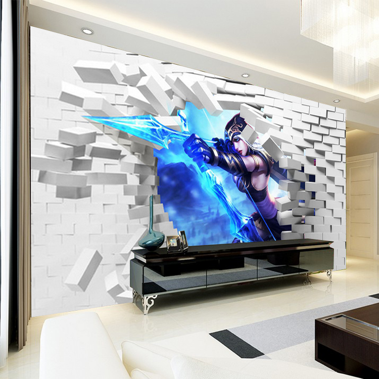 background 3d lol cartoon theme bedroom internet animation murals stereo heroes union wallpapers