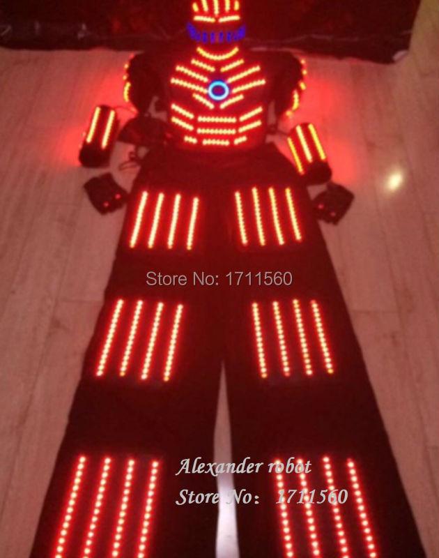 robot vedl kostým / ledrobot / led světla kostýmy / LED oblečení / lehké obleky / LED robotické obleky