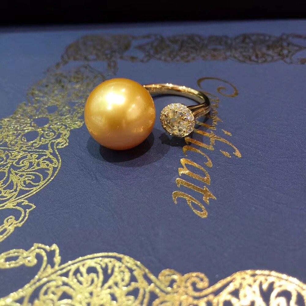 13 - 14 MM southsea alami cincin mutiara emas, 18 K emas dengan - Perhiasan bagus - Foto 2
