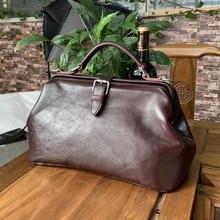 Women Handbag Top Quality Genuine Leather Shoulder Doctor Ba