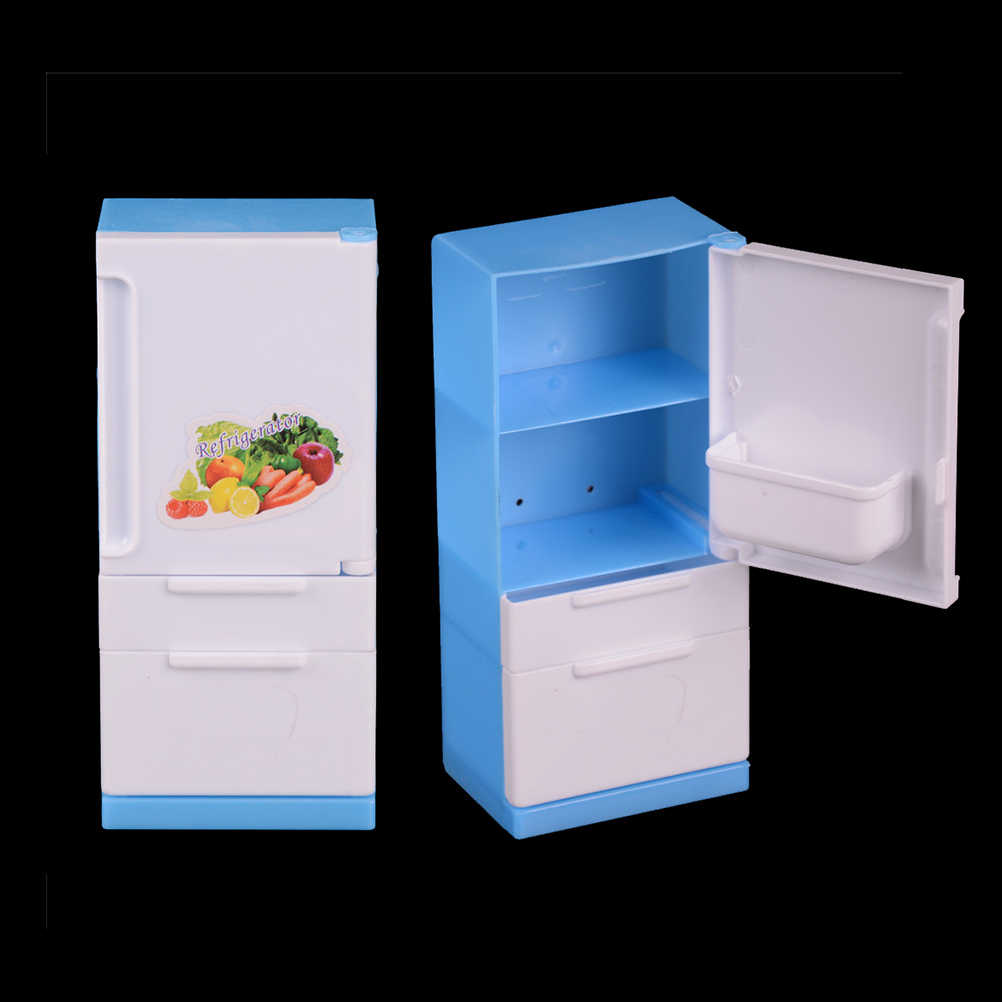 1pc Home Fridge For   Dolls Derivative Product Dolls Doll House Furniture Refrigerator Play Set