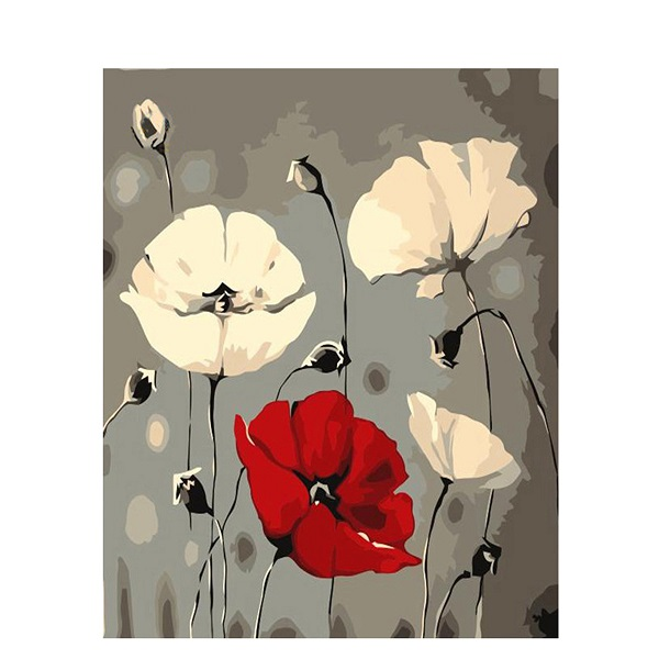 Framed Flower DIY Oil Painting Pictures By Numbers On Canvas Wall Art For Living Room Drop Shipping Home Decoration PH9253