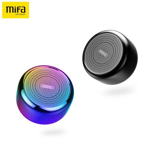 Mifa i8 portátil TWS Bluetooth Altavoz manos libres llamada aleación de aluminio Multicolor cuerpo Mini micrófono inalámbrico Bluetooth 4,2 altavoces