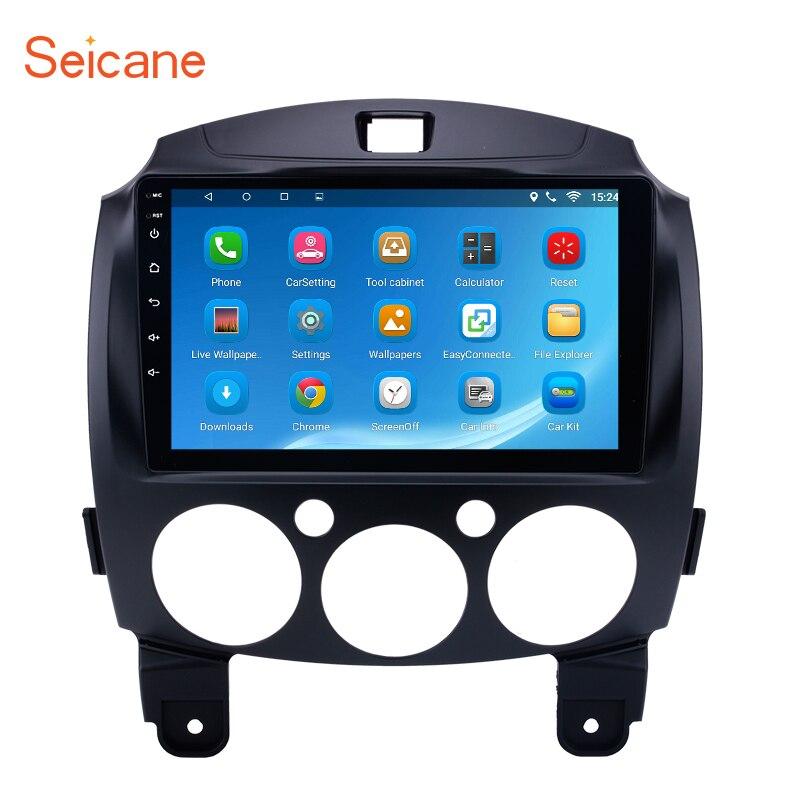 Seicane 2Din 9 inch Android 6.0/7.1 Car Radio Stereo GPS Navigation Head Unit For MAZDA 2/Jinxiang/DE/Third generation 2007-2014 forward unit 2 0 2014