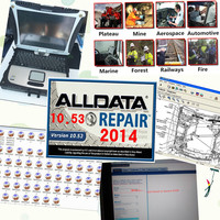 Auto Repair Software ALLDATA 10.53 Mitchell on demand 2015 ALL DATA Car Software 1TB HDD + CF19 Toughbook High Quality Laptop