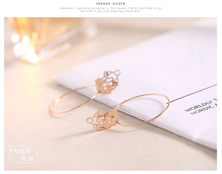 rose gold dog drop silver hoop earrings 05_02