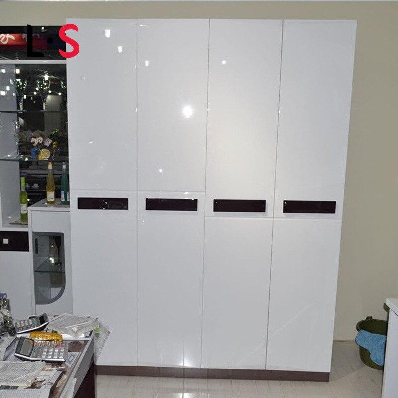 Brillant bricolage Film décoratif PVC auto-adhésif meubles rénovation Stickers muraux armoires de cuisine étanche papier peint WP16027