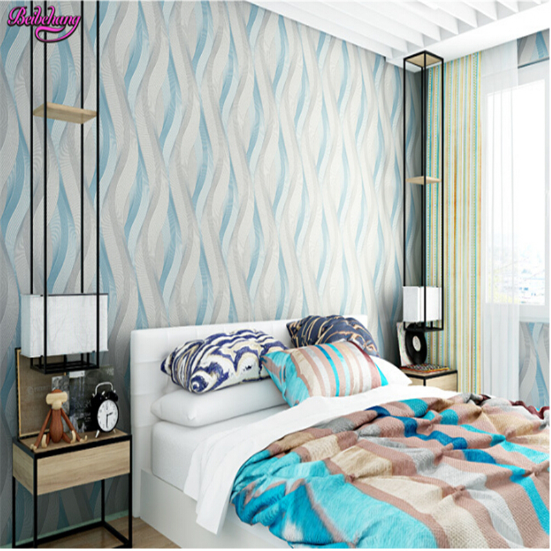 beibehang papel de parede Modern minimalist PVC non woven wallpaper bedroom living room TV backdrop papier peint wallpaper 3d beibehang papel de parede modern minimalist color vertical stripes non woven living room bedroom full shop wallpaper backdrop