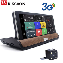 7 inch 3G Car dvr Rear view Camera Android GPS Navigation Bluetooth FM WIFI Dual Lens Cam video recorder Dash cam dvrs Free Map
