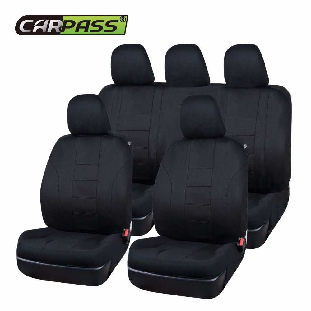 FITS NISSAN TERRANO Heavy Duty Black Waterproof Car Seat Covers 2 x Fronts