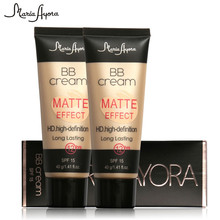 MARIA AYORA BB Cream Matte Effect HD.High-Definition Oil-control Natural Perfect Cover for Face CC Cream Lasting 12 Hours MF602