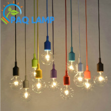 Muuto lights E27/E26 socket Chandelier lamp LED light fixture Hanging color line Silicone holder pendant ~ NO bulb~
