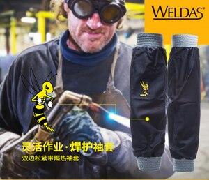 Image 2 - Flame Retardant Welder FR Cotton Welding Sleeves