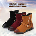 2016 new winter children wipe the boots girls fashion fringed boots warm cotton boots ski boots