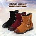 2016 novas crianças inverno limpar as botas meninas moda botas com franjas botas de algodão quente botas de esqui