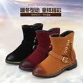 2016 nuevos niños del invierno limpie las botas muchachas de la manera con flecos botas de algodón de abrigo botas de esquí