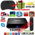 JAILBREAK M8S Android Smart TV Box Amlogic S812 Quad core 4 K 2G/8G wifi HDMI TV box Media Player Air Mouse Teclado TV caja