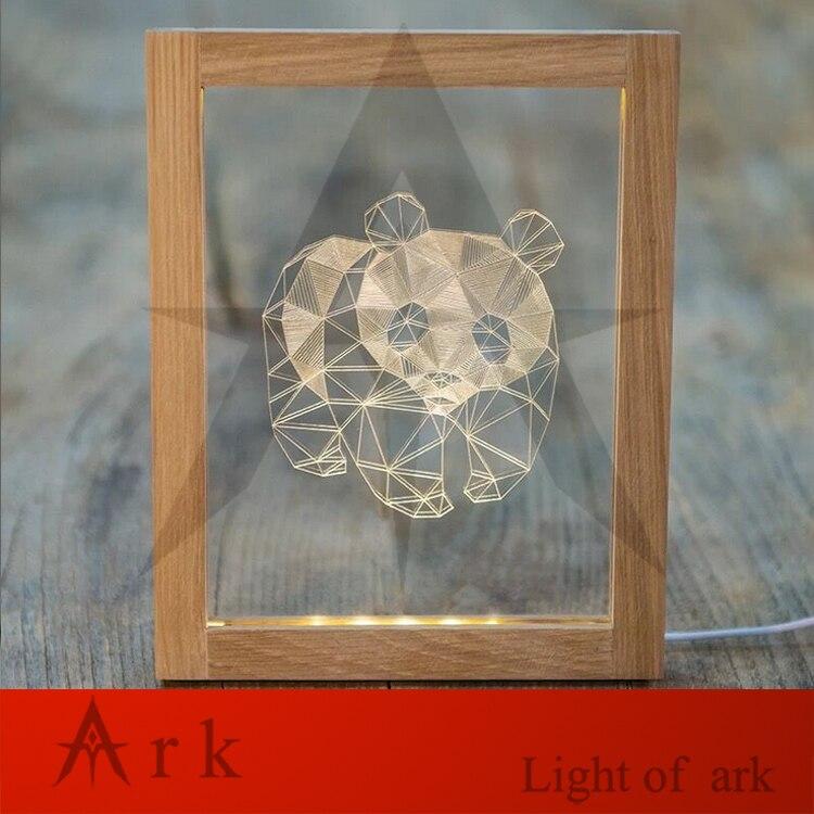 Arche licht kreative geburtstagsgeschenk holz bilderrahmen led ...