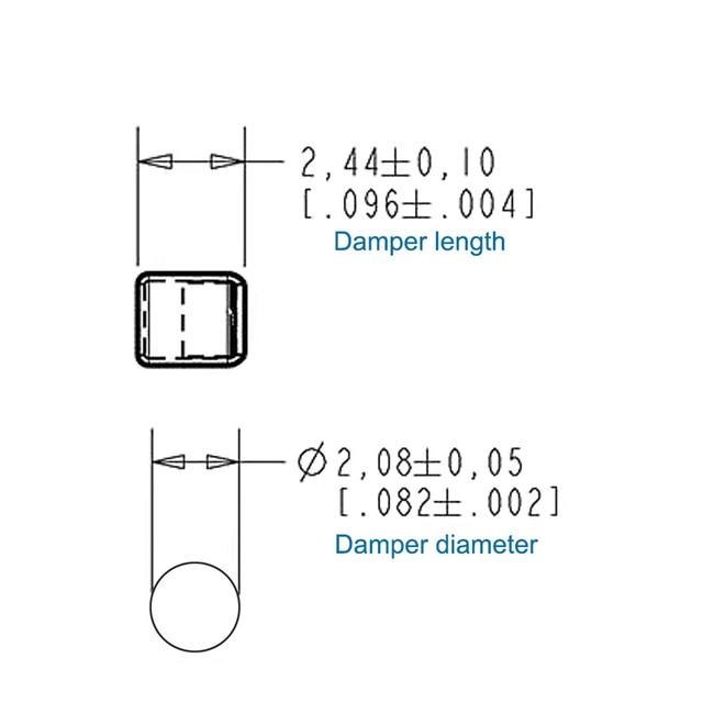 2PCS Balanced Armature Damping Damper Plugs filters Knowles Acoustic Dampers for Shure Se215 se315 se425 se535 Se846 TF10 LM5144 4
