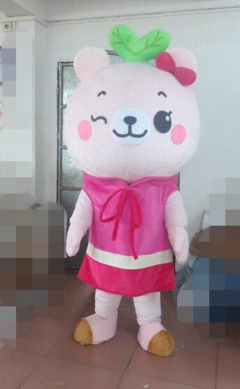 Высокое качество Розовый Lotso Медведь Маскоты костюм мультфильм Маскоты  костюм 89b03a010f44d