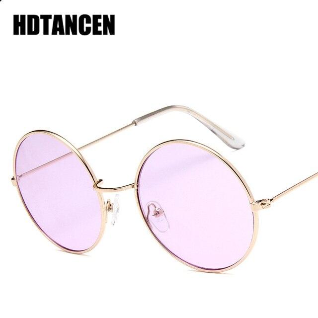 fb5ce935c4abc8 HDTANCEN New Round Sunglasses Women Fashion Vintage Oculos Ocean Lens Sun  Glasses UV400 Transparent Lunette De Soleil Femme 2018